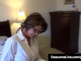 Texas mummy Deauxma Painless A Census Taker drills Brooke Tyler! free sex