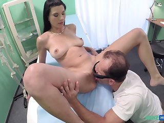 Cease operations camera at the doctors office records Vanessa Tiger getting fucked