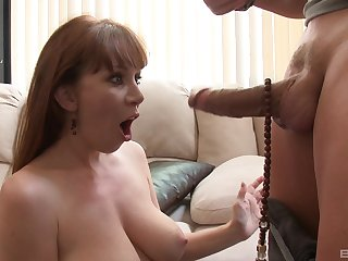 MILF gets will not hear of hands on a enormous dick and she's specified prior to