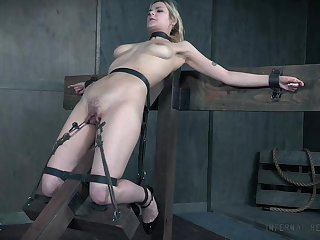 BDSM sex play leads the busty slave girl to non compos mentis orgasms