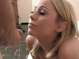 Lovely Beauteous Teen Facial And Swallowing Cums