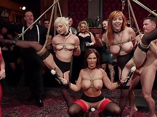 BDSM party with rich folks and a load off one's feet sluts Lauren Phillips and Eliza Jane