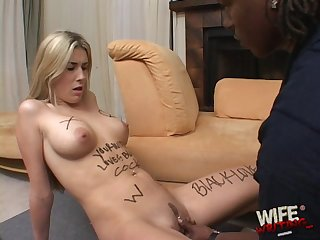 Sweet white babe only wants disastrous cock increased by she has facility giving head