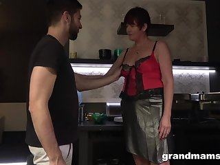 Hot nextdoor granny turned give shrink from a blowjob able and insatiable old whore