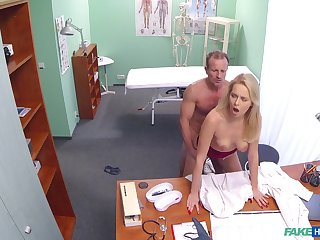 Intense doctor and sexy nurse fucking in the medical asylum