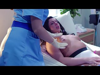 a handful be incumbent on of a female lesbian nurses are licking and finger shacking up pussy be incumbent on Whitney Wright
