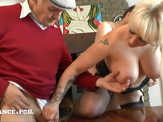 Full-Breasted Tattoed Blond Assfucking Shagged In Everlasting Fuck