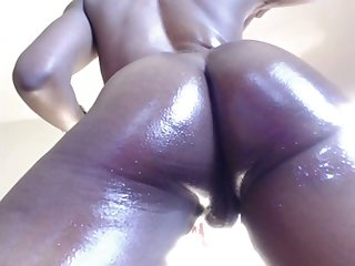That's what you call a phat juicy ass and that puffy pussy of hers is dazzling