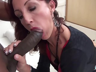 Lyna Cypher - Hot Hard Pussy And Irritant Fuck With Amateurish French Mature Slut And Bbc